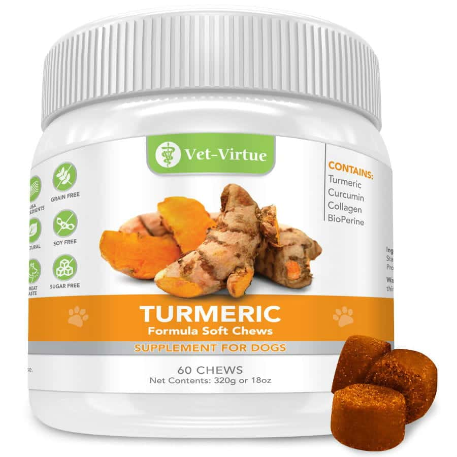 Vet-Virtue Organic Turmeric with Curcumin Supplement For Dogs