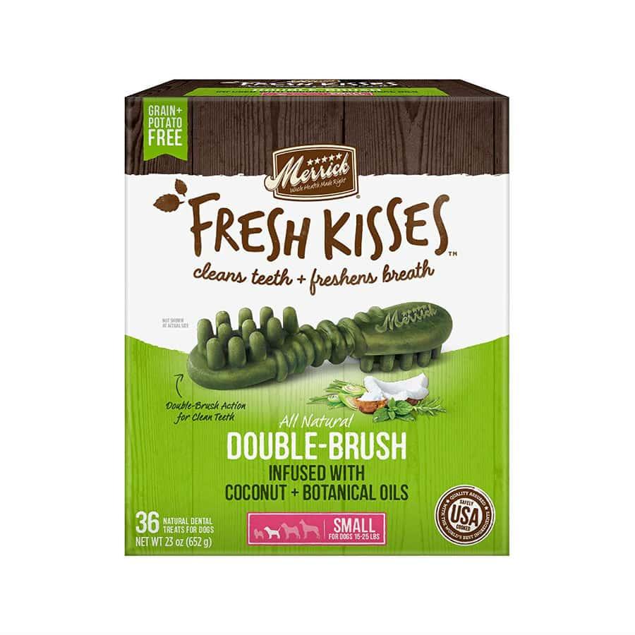Merrick Fresh Kisses Coconut Oil Dental Dog Treats