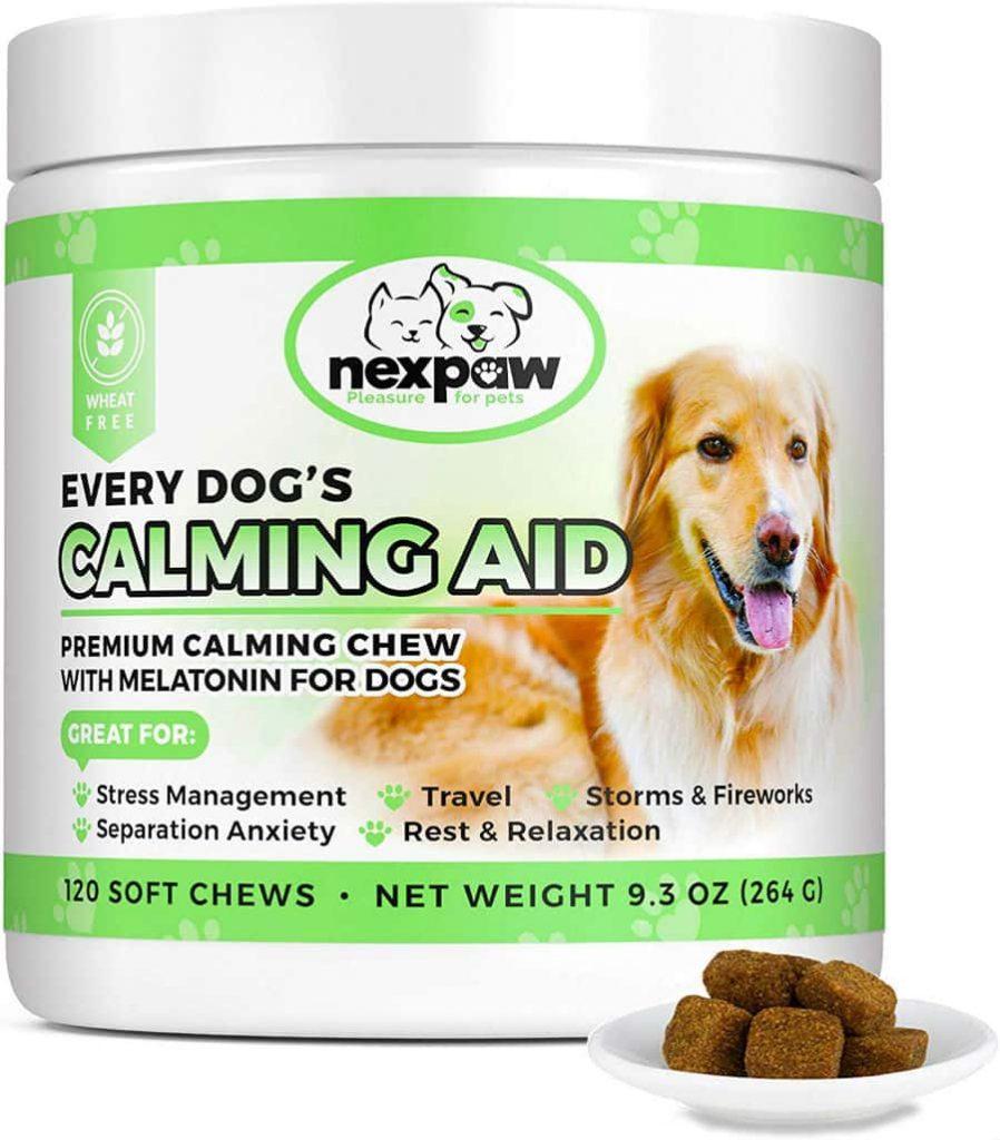 NEXPAW-Dog-Calming-Aid-Premium-Calming-Chew-with-Melatonin