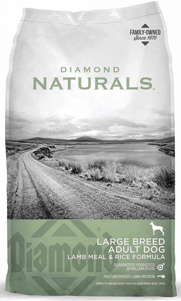 Diamonds Natural Large Breed dog food for Arthritis