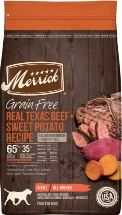 Merrick dog food for arthritis