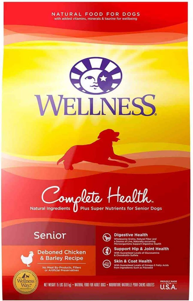 Wellness Complete Senior Dog Food with Glucosamine
