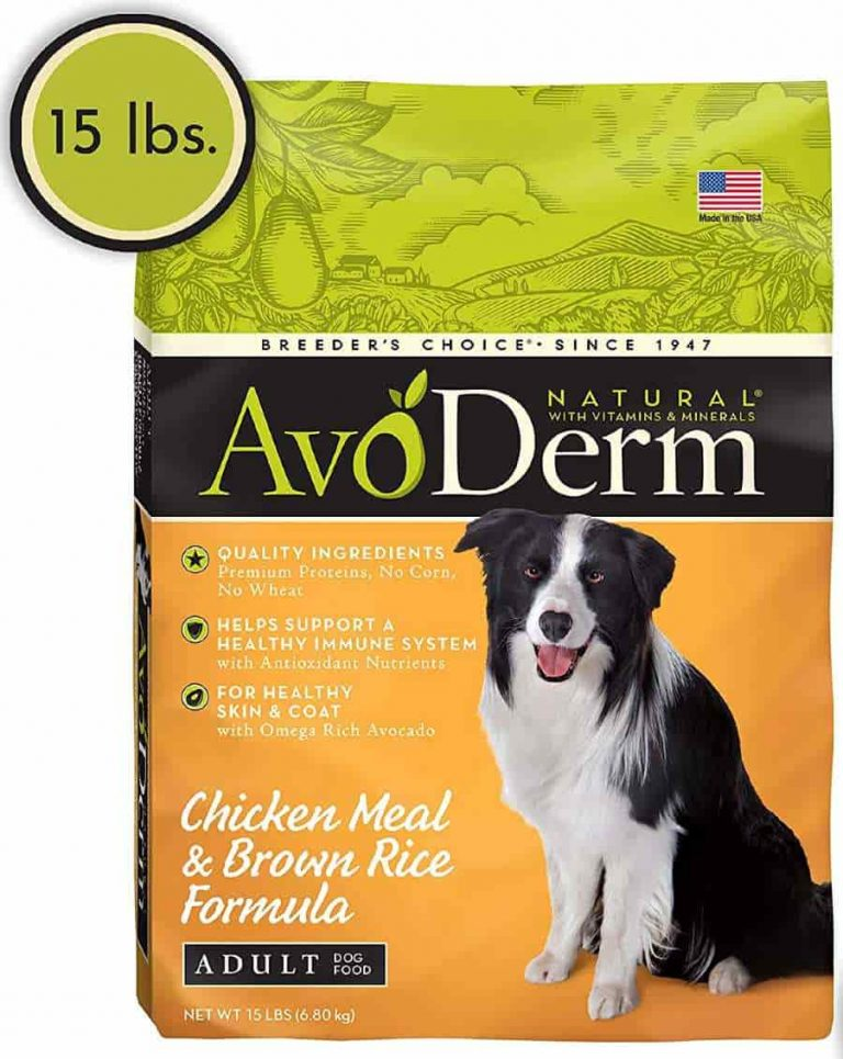 Avoderm dog food for allergies