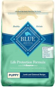 Blue Buffalo Life Protection dog food for puppy with Grains