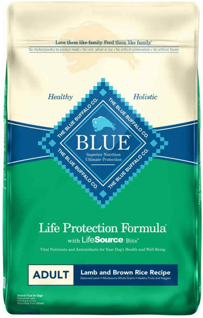 Blue Buffalo Lamb and Brown rice dog food
