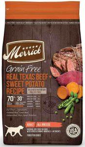 Merrick Adult dog food grain free