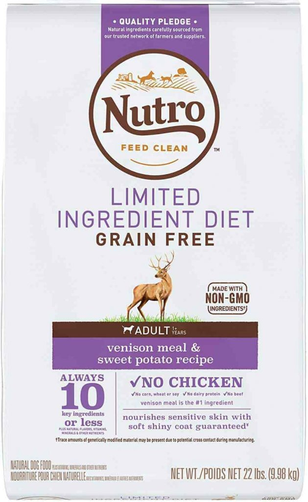 Nutro dog food for allergies