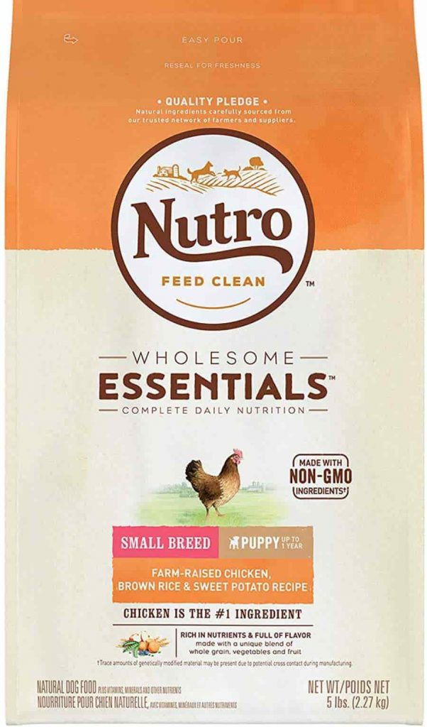 Nutro Wholesome small breed puppy dog food