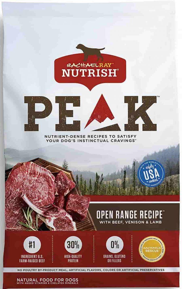 Rachael Ray Nutrish Peak beef venision High Calorie dog food