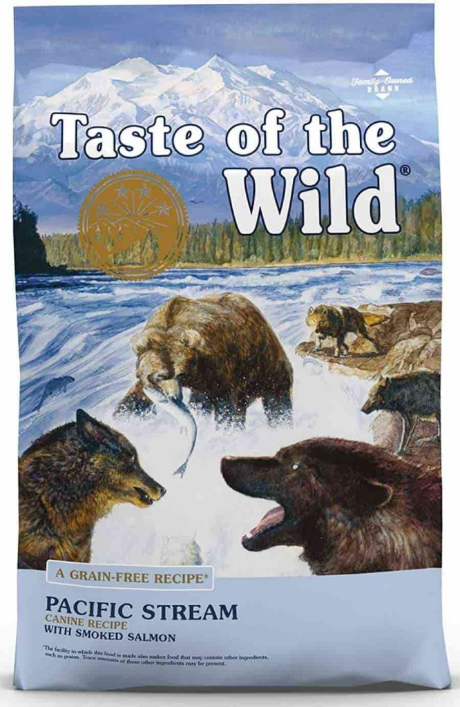 Taste of the Wild dry dog food with Salmon