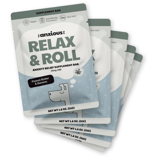 Peanut Butter Banana Relax & Roll - CBD Dog Treats For Anxiety Relief