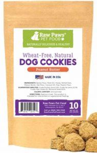 Raw paws peanut butter dog treat