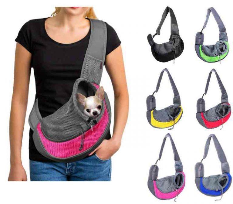 Dog Sling Mesh Carrier Bag