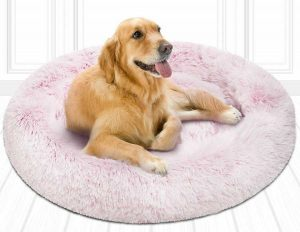 Friends Forever Faux Fur Dog Bed