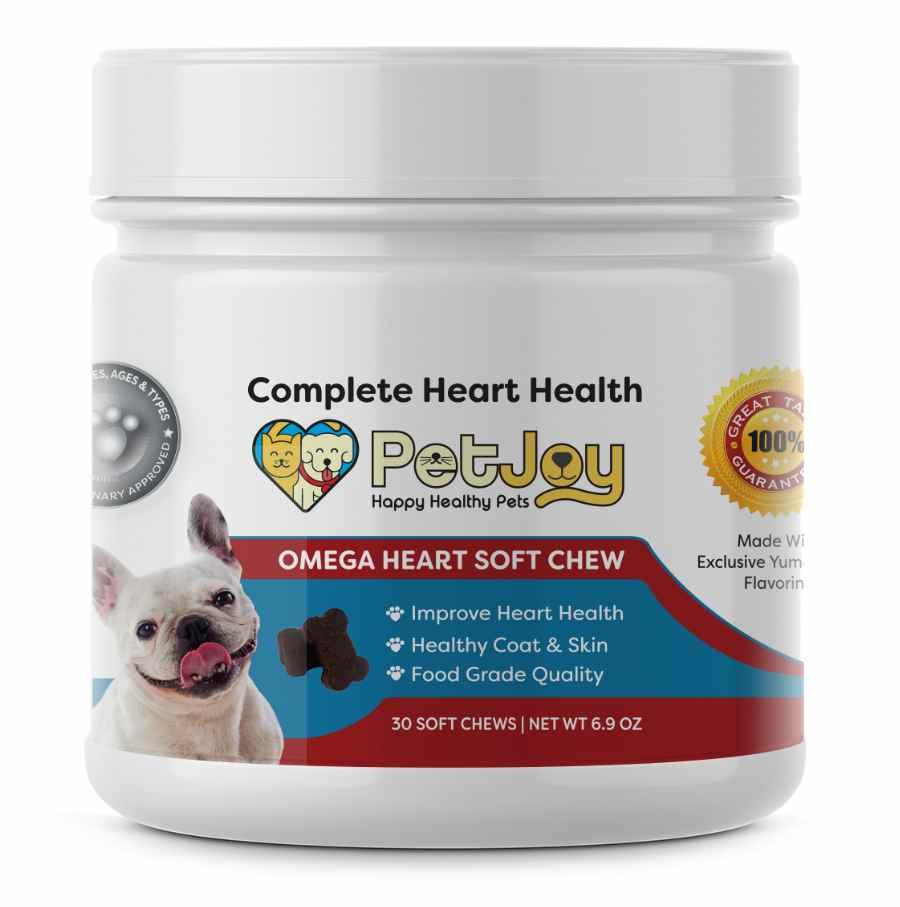 Petjoy - Omega Soft Chews for dog heart health
