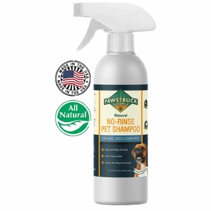 Pawstruck No-Rinse Dry Dog Shampoo for Dogs