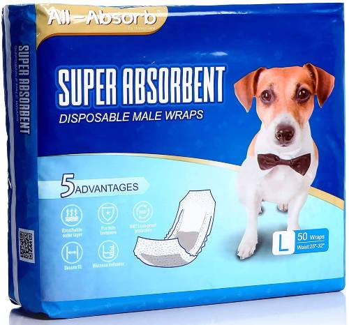 All Absorb Large Male Dog Diaper