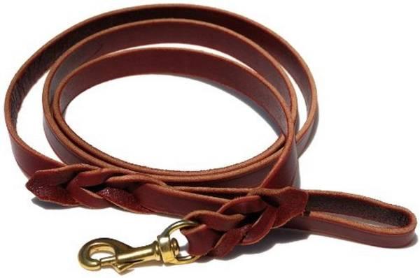 Braided Leather Leash Signature K9