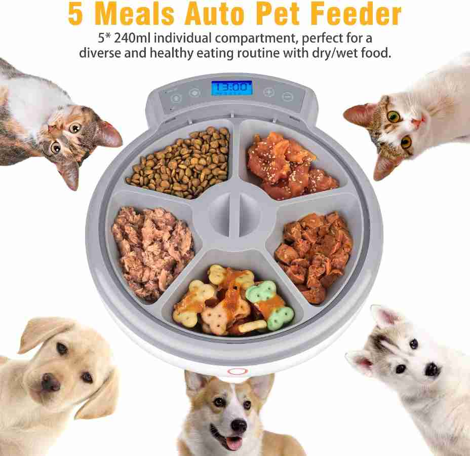 Casfuy Automatic Dog Feeder - Wet/Dry Dog Food Dispenser