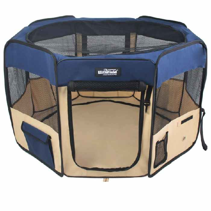 2-Door Soft-Sided Portable Dog Playpen