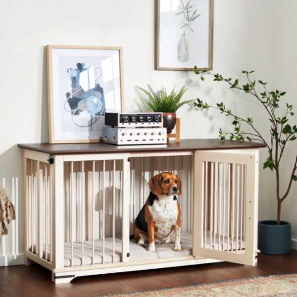 Frisco Broadway Furniture Wooden Dog Crate