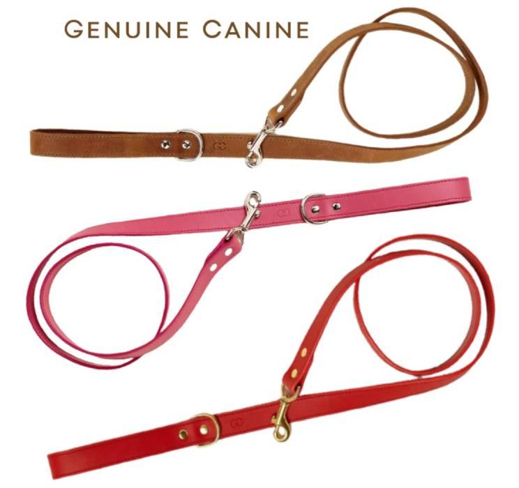 Genuine Canine Leather Leash - 4 feet or 6 feet