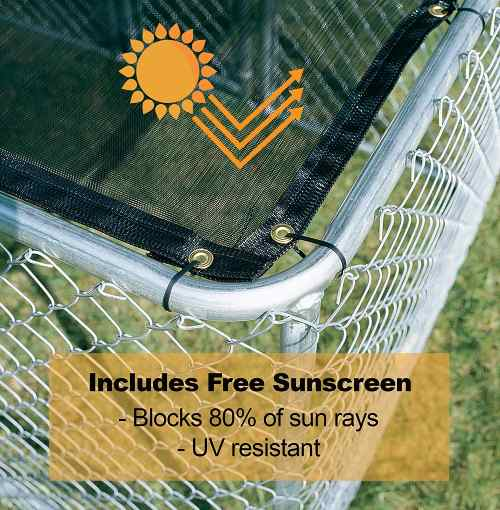Midwest Outdoor Dog Kennel Suncreen protection
