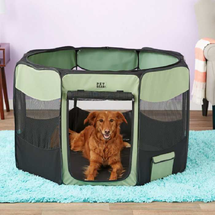 Pet Gear Travel Lite Soft-Sided Dog Pen with Removable Top