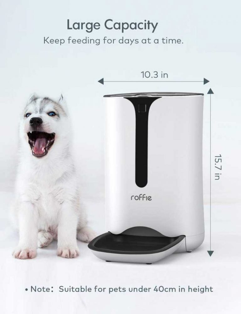 Auto Dog Food Dispenser by Roffie For Large Dogs