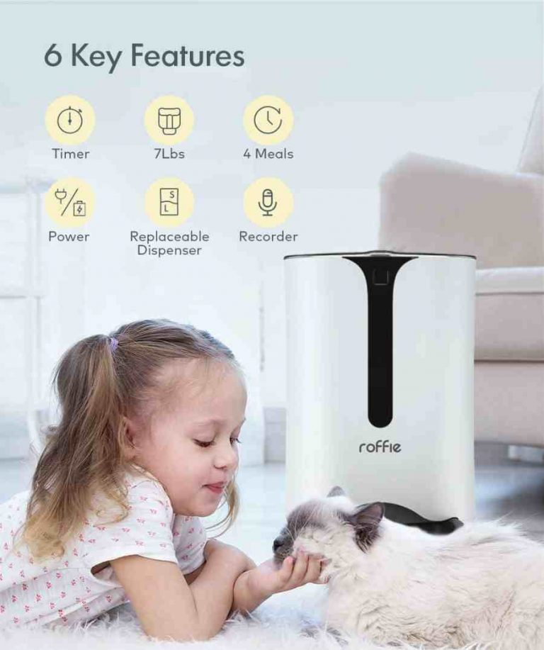 7 Litres Roffie Timed Dog Feeder, programmable voice recording