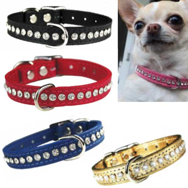 OmniPet Signature Crystal Leather Dog Collar