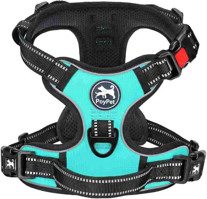 PoyPet No Pull Dog Harness, No Choke Reflective Front Clip Harness