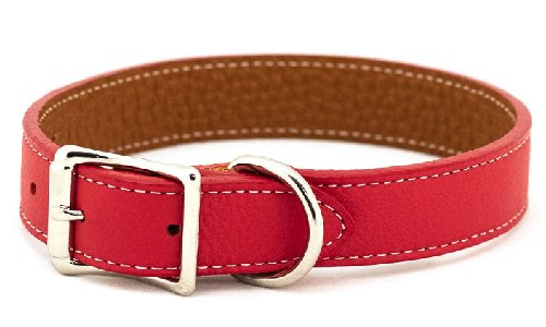 Soft Tuscan Italian Leather Dog Collar