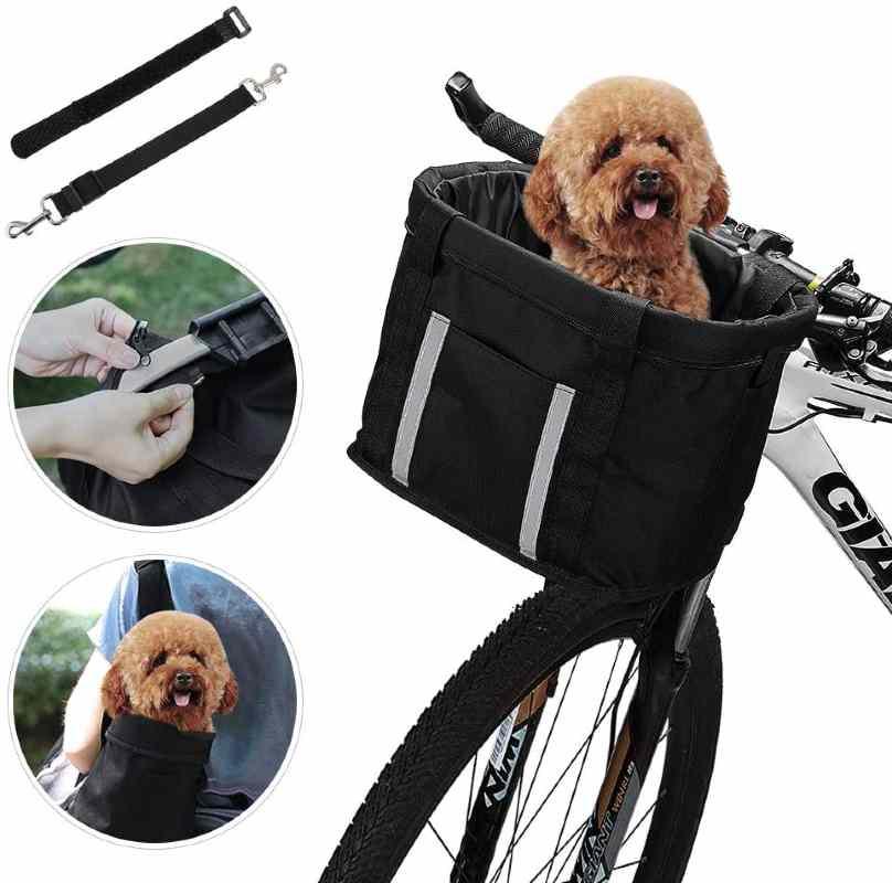 Anzome Dog Bike Basket Carrier