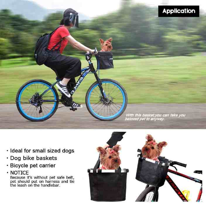 Anzome front bike basket for dog