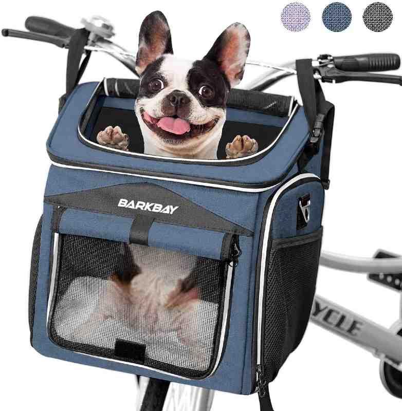 10. BARKBAY Dog Bike Basket Carrier