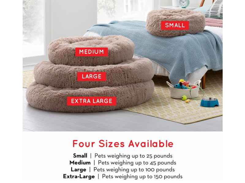 Brindle Donut Dog Bed Large To Small Sizes