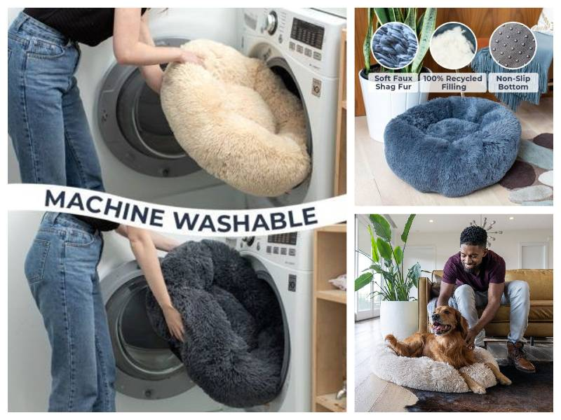 Cozy Calming Washable Dog Bed