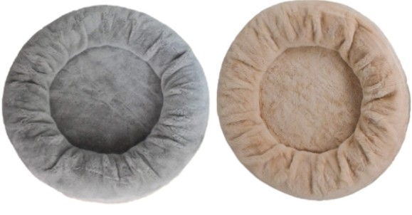 Faux Fur Calming Round Beds For Dogs