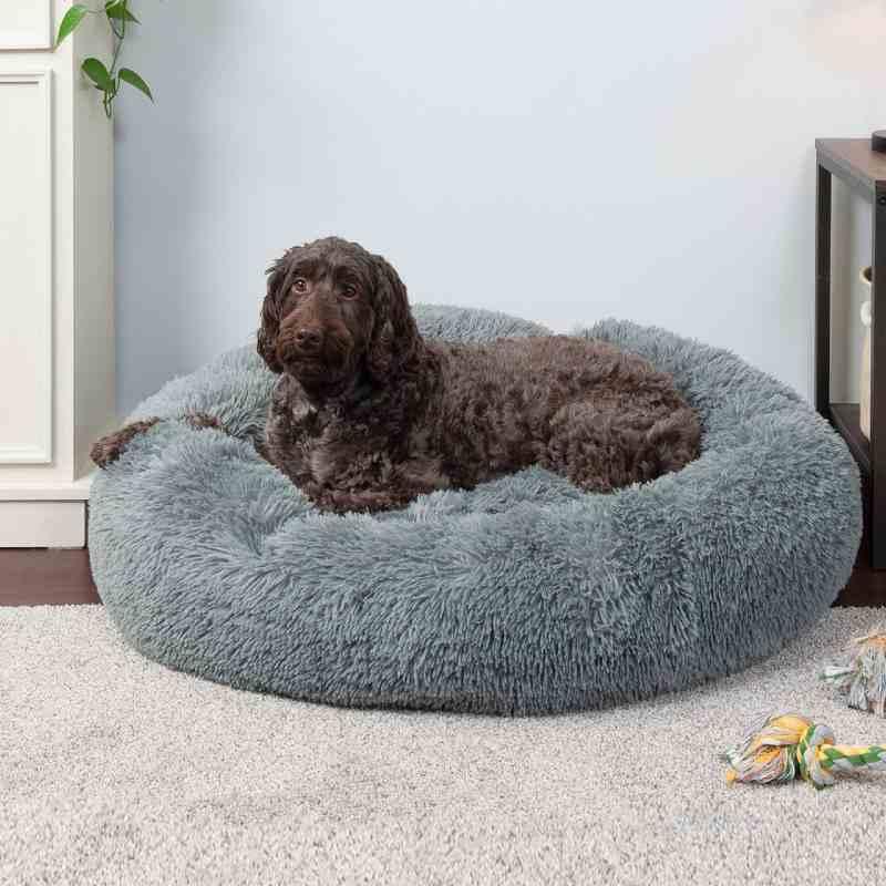 FurHaven Donut Bolster Calming Dog Bed