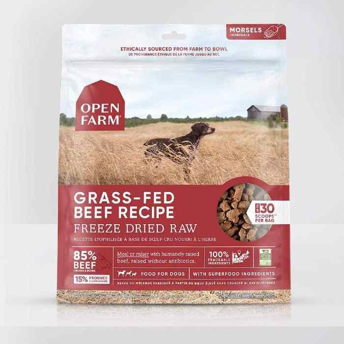 OpenFarm Freeze Dried Raw Dog Food Grass Fed Beef