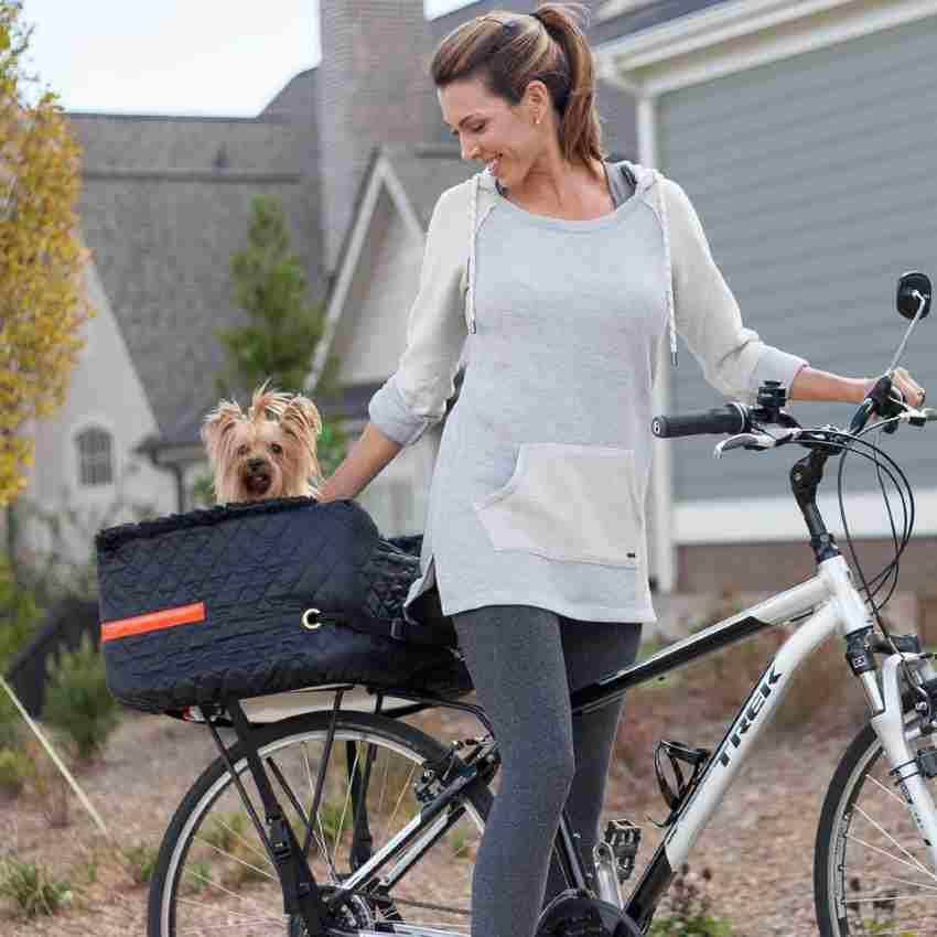 Bicycle dog carrier rear bike basket