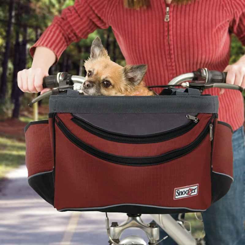 Snoozer front bike basket for dog