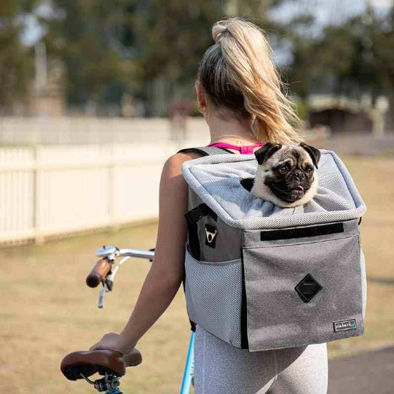 elabark dog carrier for bike and backpack