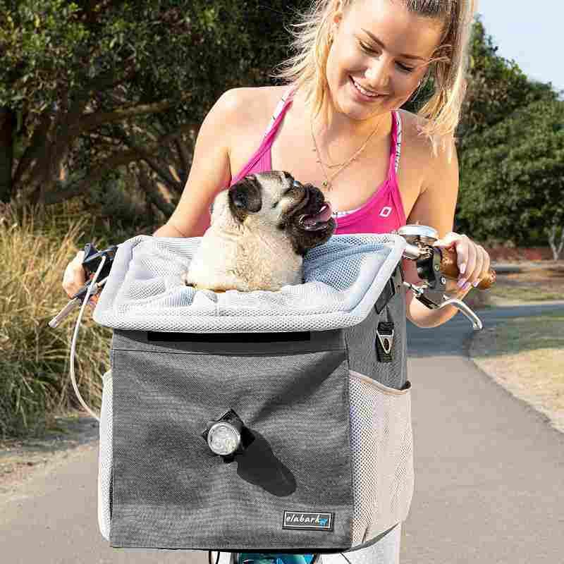 elabark dog carrier for bike