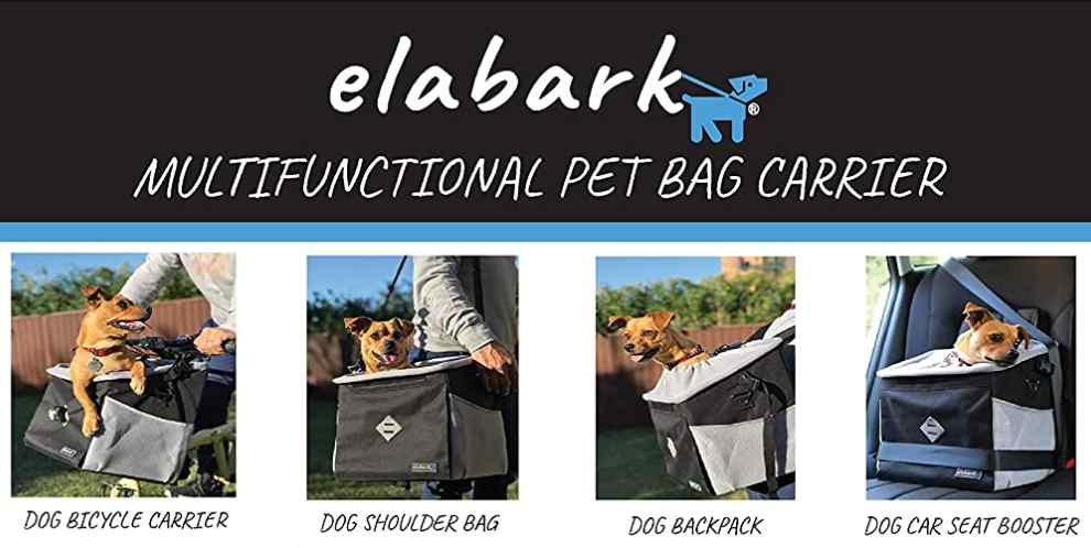 elabark Dog Carrier For Bicycle, Backpack, Car Seat, Shoulder Bag