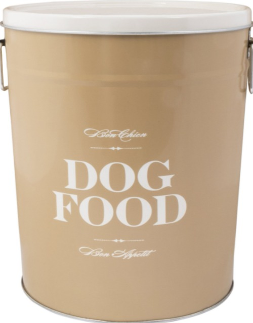 harry barker taupe dog food container
