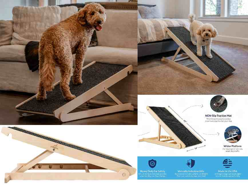 Adjustable Dog Ramp for Couch and Bed