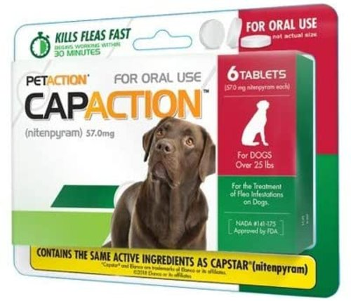 CapAction Flea Pills for Large Dogs