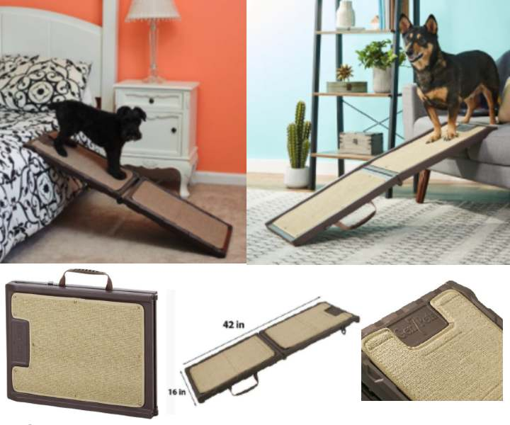 Gen7Pets Mini Foldable Indoor Dog Ramp For Bed